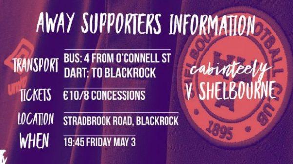 Cabinteely v Shelbourne on Friday 3rd
