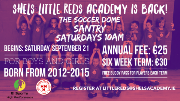 Shels Little Reds Academy returns September 21