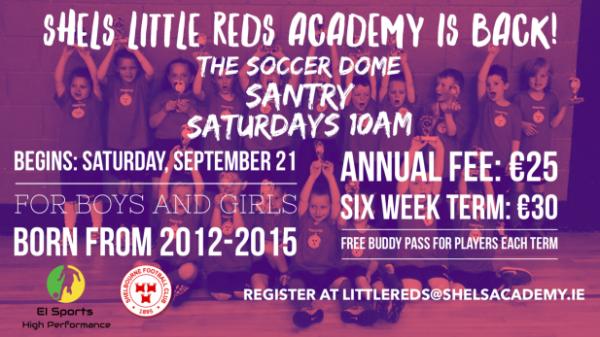 Shels Little Reds Academy returns September 21